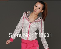 New brand Woman's Sport Suits Hooded Long-sleeved Coat and Pants Suit fashion Females Sportswear