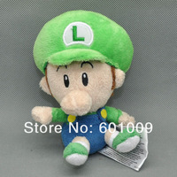 "Free Shipping 2014 New Cute Super Mario Bros.LUIGI BB Plush Doll Toy 5"" Retail"