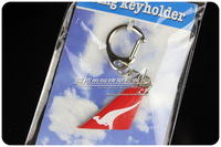 4cm Cute Mini Australia Qantas Airways Airlines Wing Plane Keychain Key chain Airplane Tailplane Keyring Key Ring Free Shipping