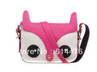 Free Shipping 100PCS/Lot New Women Ladies Retro Shoulder Bag Fashion Messenger Bags Cute School Tote Owl Fox PU leather Handbags
