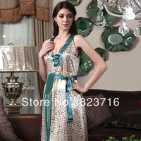 Free shopping 2014 female high-grade silk sleepwear pure silk sleeveless nightgown 100% Mulberry silk-Fake a penalty ten