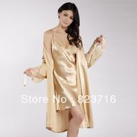 Free shopping women's silk casual sleepwear female 100% mulberry silk nightgown twinset-Fake a penalty ten