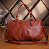 New arrival 2014 spring first layer of cowhide women's casual all-match genuine leather handbag cross-body/tote bags