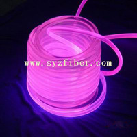 5m length Sot-6 phi . 6mm glow fiber optic optical fiber trainint chatoyancy colorful decoration lamp