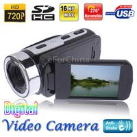 1280x720P 5.0 Mega Pixels 16X Zoom Digital Video Camera w 2.7 inch TFT LCD Screen HDTV AV OUT USB Port Support SD Card