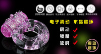 2014 new hot sale 1pcs Sex Toys Adult Men Vibration Collars Delay Premature Ejaculation Lock Fine Butterfly Cock Penis Ring