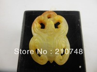 2014  Free  shipping Chinese Hand Carved Jade - Bat Jade