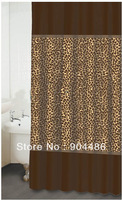 2014 new arrival leopard print   shower curtain,100% Environmental protection.Free shipping!