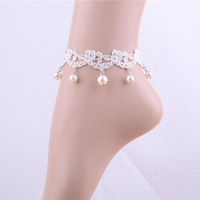 artificial jewelry pearl indian anklet dropship suppliers anklet for women girls free shipping 2014 latest products in market