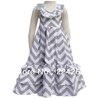 New Arrive 2014 Summer Cotton girls chevron maxi dress