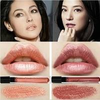 (Min Order 10$) New Arrival Waterproof Elegant Meatl shimmer Brown Color Lipgstick matte smooth liquid lipstick Long Lasting