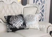 Free Shopping European sofa cushion pillow waist cotton black and white honeysuckle hot car model room bed cushion pad sets42*42