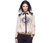 New 2014 Fashion Women's Blouses Brand Women's Spring Chiffon Blouses