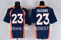 Free Shipping Cheap Wholesale Authentic Elite American Football Jerseys #23 Willis McGahee Jersey Embroidery Logos Mixed Order