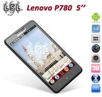 Original Lenovo P780 5.0 inch android phones MTK6589 Quad Core 1.2GHz 4000mAh battery 8.0MP Camera Dual SIM