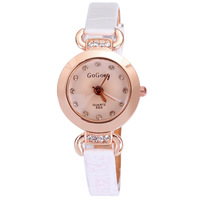 Discount free shipping  famous fashion quartz watch leather women casual analog round quartz new style hot sale