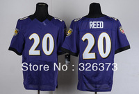 Free Shipping Cheap Wholesale Authentic Elite American Football Jerseys #20 Ed Reed Jersey Embroidery Logos Mixed Order
