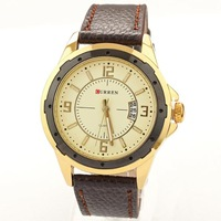 Discount free shipping Best Selling Product 2014 Mens Luxury Famous Brand Watches leather Strap Watches Quartz
