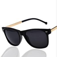Vintage retro 2014 new metal leg rivet Glasses fashion Sun glasses Eyewear women men Cute Nice Oculos de sol A7