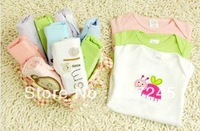 5pcs/lot Infant Baby romper animal basic boy/girl long/short sleeve jumpsuit baby cartoon, winggle-in baby clothing
