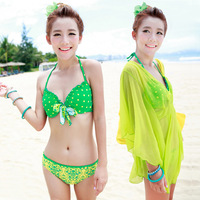 maillot de bain Sexy dazzling neon color steel bikini piece set swimwear size push up beachwear