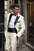 Wholesale - Noble Peak Lapel Long Wedding Bridegroom/Groomsman Best man Suit (Jacket+Pants+Tie+Girdle) ok:889