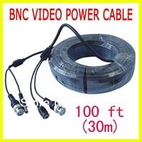Cheap Sale Promotion 100FT(30M) Power Surveillance Video Cable CCTV DVR Camera W45