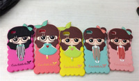 #20140113#  New Fashion Case for iPhone 4/4s Silicone Case TPU Case Dustproof Lovely Xiaoxi