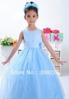 2014 new design baby girl  party long dress girl dance dress 5pcs/lot chiffon pettiskirt dress free shipping