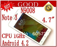 New mini Note 3  mini N9008 Android 4.2 Smart Phone With 4.7 inch capacitive screen Dual SIM Cameras with Gift Free shipping