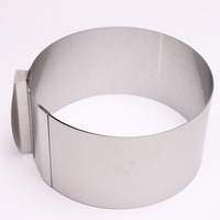 1pc/lot Adjustable Bakeware Retractable Stainless Steel Circle Mousse Cake Mould Ring Baking Tool 670630