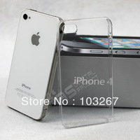 Free shipping Transparent Thin Simple Style Hard Back Cover Case For iphone 4/4s