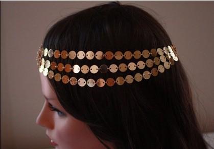 gold head chain jewelry - hair band Metal Chain--CHAIN HEADPIECE- pearl and gold chain headdress head piece - hairwear(China (Mainland))