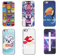 Free shipping Roaring Tiger Pattern PC Hard Case with Black Frame for iPhone 5/5S Wholesale