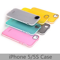 Free shipping Candy Color Silicone Back Cover Case for iPhone 5/5S