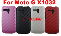 Flip Cover Mobile Phone Leather Case Carbon Fiber Case Cell Phone Case  For Motorola Moto G X1032