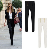 new style autumn sexy pencil pants women OL career solid double zip casual slim skinny pants fashion women leggings