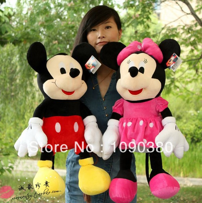 Classic 30CM Mickey Mouse Baby Toy 2Pcs/Lot Soft Plush Minnie Toys For Girls And Boys Best Gifts For Children Free Shipping(China (Mainland))