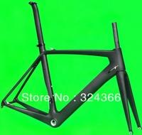 (FR318)  Full carbon UD Matt Matte road bike frameset BSA frame  fork seatpost clamp  headset