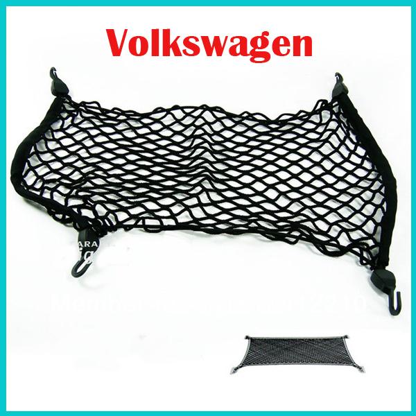 Free Shipping CAR Mesh Cargo Net Holder Trunk Elastic Storage 4 Hook For Volkswagen VW GOLF6 GTI CC TIGUAN Touran skoda Octavia(China (Mainland))