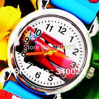 1pcs New Cute Cartoon Car 3D Child Watches Cartoon Children Watch Quartz Wrist Watch Christmas Gift,7Colors,  C3