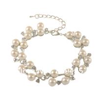 Free shipping,wholesale charm pearl  bracelet,fashion bracelets bangles jewellery Gift For Women 6pcs/lot