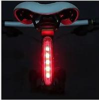 Slitless bicycle rear light safety warning light flash lights mountain bike rear light