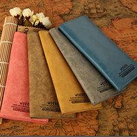 Wholesale 2014 Male Long Design Vintage Cowhide Wallet Women's Genuine Leather wallet Women Candy Color Money Clip wallet