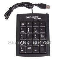 USB Numeric Numerical Keypad Keyboard Pad with 19 Keys for Laptop Free shipping