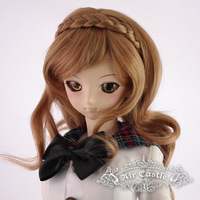 Air castle young girl of cocoa silk  for palm   dd bjd wig