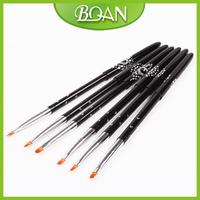 2014 New 6# UV Gel Nail Brush for Nail 3D Pen with Nylon Brush Hair Free Shipping 10 Pcs