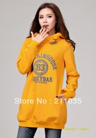 Women autumn winter plus size plus velvet hooded pullover thick letters printed sweater loose casual hoodies,R93,DY,F515,1303#