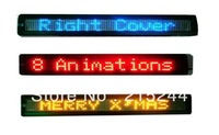 Scrolling RGY or Single green Single Blue Car LED message sign,Programmable message Semi-outdoor or Indoor Car message sign 7*80