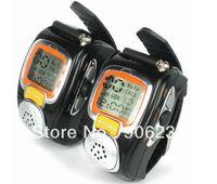 Free shipping!!2pcs Two Way Radio Walkie Talkie Wrist Watch Style built in li-ion battery